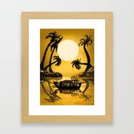 Kerala Evening Framed Art Print