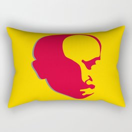 Vladimir Ilich Lenin stencil silhuette portrait Rectangular Pillow