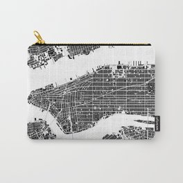 New York city map black and white Carry-All Pouch