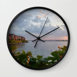 Queens View of NYC Wall Clock