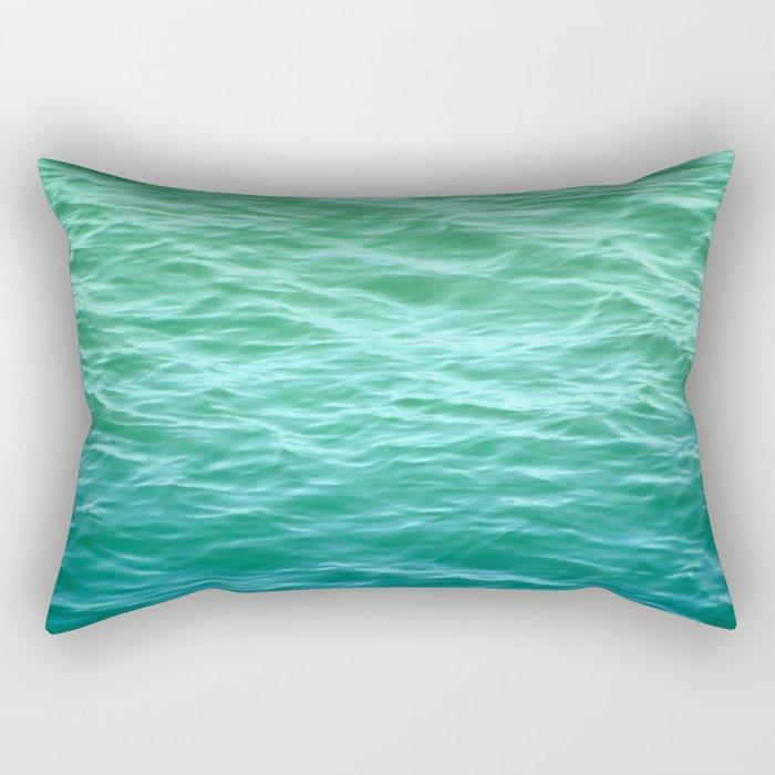 Teal Sea Rectangular Pillow
