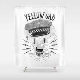 Bad Taxi Driver Shower Curtain