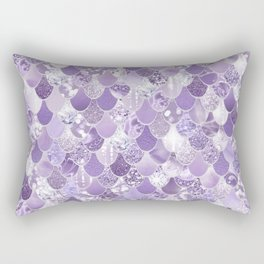 Mermaid Art, Cute Purple, Fun Bathroom Art Rectangular Pillow