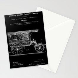 Ambulance Patent 1889 - Black Stationery Cards