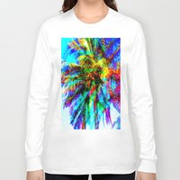 palm tree Long Sleeve T-shirts featuring Palm Tree  by Nikki Hung