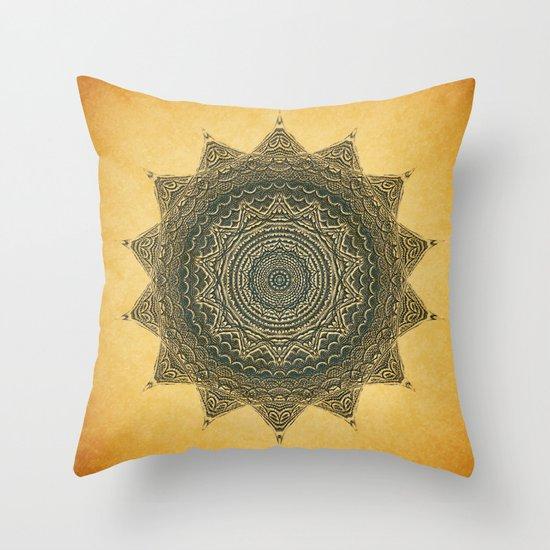 Sun Symbol Throw Pillow
