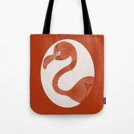 Floral Flamingo Tote Bag