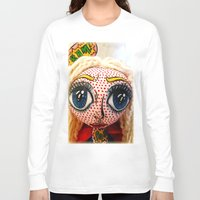 supergirl Long Sleeve T-shirts featuring Supergirl by Chiara Venice Art Dolls