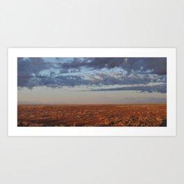 Morning Desert Clouds Art Print