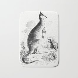 Lord Derbys scaly-tailed squirrel from Voyages et Aventures Dans lAfrique equatoriale (1863) Bath Mat