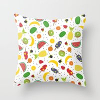 fruits Throw Pillows featuring Fruits by Ananá