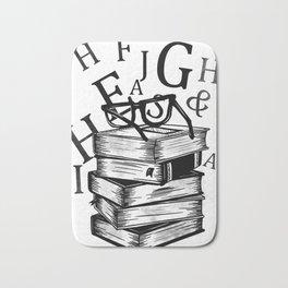 Book lovers reading t-shirt teachers librarians Bath Mat
