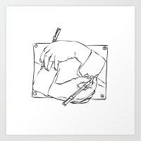 escher Art Prints featuring Escher by franzgoria