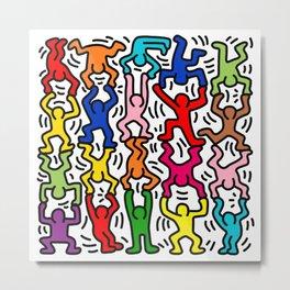 Keith Haring Colour  Metal Print
