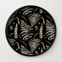 Fern Pattern 2 Wall Clock