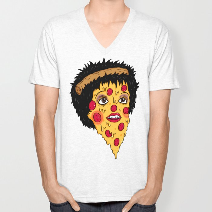 Pizza Minnelli Unisex V-Neck