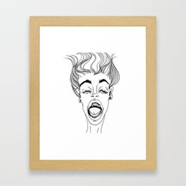 """Express yourself, don't repress yourself"" Framed Art Print"
