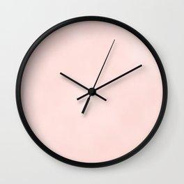 Pink Coral Wall Clock