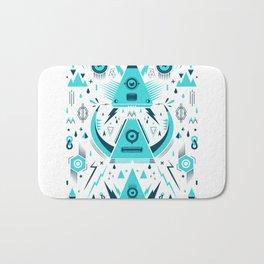 Triangle alien transf Bath Mat