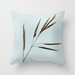 Beachgrass Seed Throw Pillow