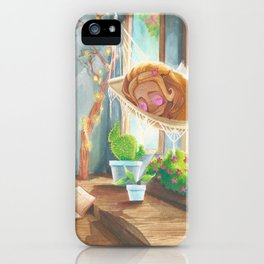 Sleeping in the Sunshine iPhone Case