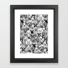 just dogs Framed Art Print
