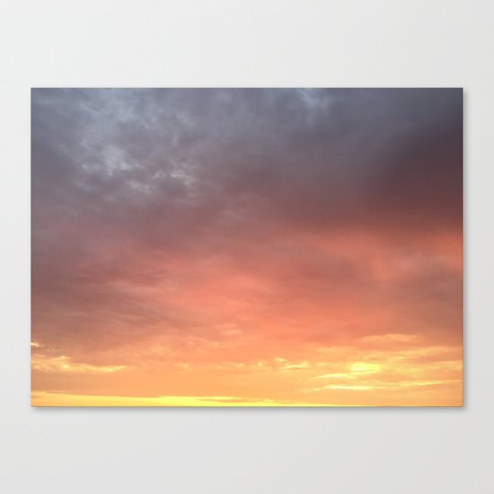 Yellow Red and Gray Sky Canvas Print