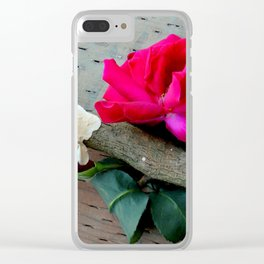 Old Rose Clear iPhone Case