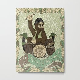 Mr. Squatch and the Stumps Metal Print
