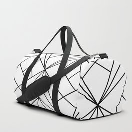 Black and White Geometric Pattern Duffle Bag