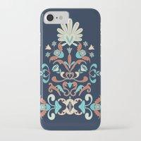 folk iPhone & iPod Cases featuring Folk by Carolina Abarca