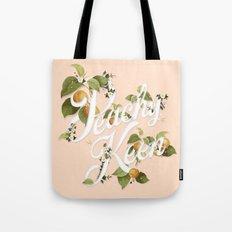 Peachy Keen : Peach Tote Bag