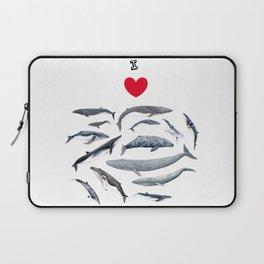 I love whales design Laptop Sleeve