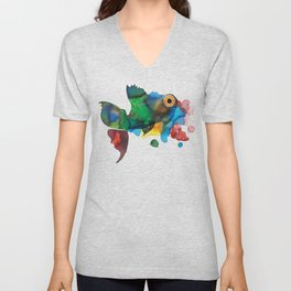 colorful fish Unisex V-Neck