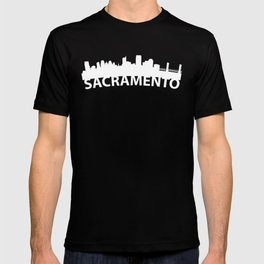 Curved Skyline Of Sacramento CA T-shirt