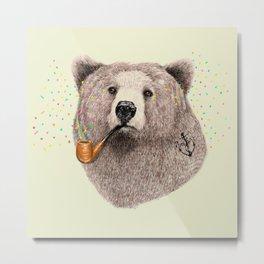 Sailor Bear Metal Print