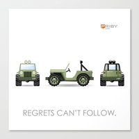 jeep Canvas Prints featuring Jeep by priby