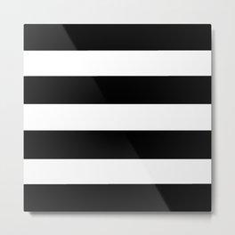 Mariniere marinière black and white Metal Print
