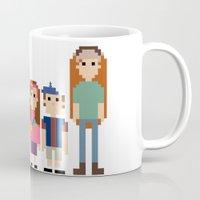 gravity falls Mugs featuring Gravity Falls 8-bit by Evelyn Gonzalez