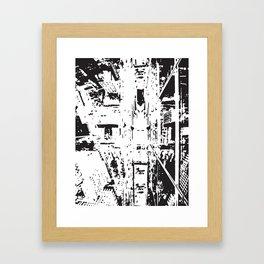 City View - Black & White Framed Art Print
