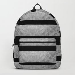 HEAVY METAL silver stripes Backpack