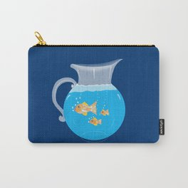 Three Goldfishes In a Water Pitcher Carry-All Pouch