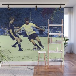 The Challenge - Soccer Players Wall Mural