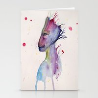 groot Stationery Cards featuring Groot by Kolbi Jane