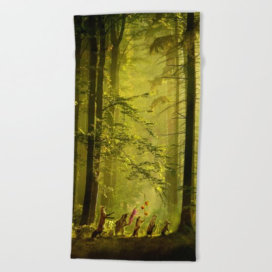 Secret Parade Beach Towel