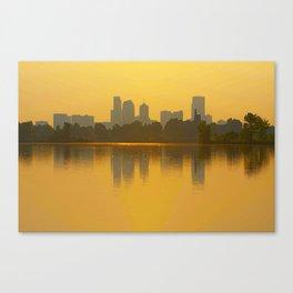 Come Sit With Me At Sloan Lake Downton Denver Colorado Canvas Print