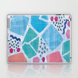 Abstract pattern in blue, pink and green pastel colors Laptop & iPad Skin