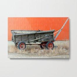 Rustic Wagon Metal Print