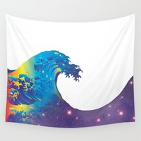hokusai Wall Tapestries featuring Hokusai Universe by FACTORIE