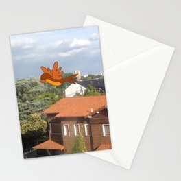 Flying with friends. Stationery Cards